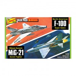 1/72 2 Pack Vietnam Era Fighters - Lindberg