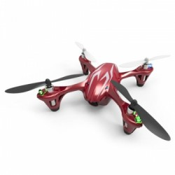 HUBSAN X4 MINI QUAD Drone LED RED w/HD 720P CAMERA 4CH 2.4ghz