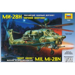 Mil Mi-28N Russian Attack Helicopter 1/72 Scale Kit