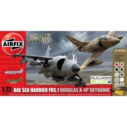 Bae Sea Harrier Frs.1 And Douglas A-4P Skyhawk Dogfight Doubles Gift Set 1/72 Dis Kit Airfix A50134