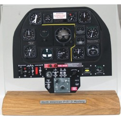North American P51D Mustang Instrument Panel 1/4 Scale