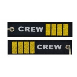 Keyholder with CREW and 4 gold bars on both sides