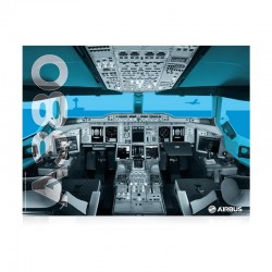 Airbus A380 cockpit poster