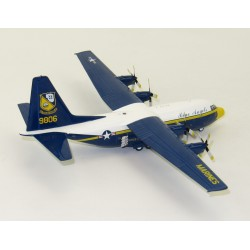 Hercules C130F L-282 United States Marines, Blue Angels 9806 with stand 1/200 Scale Diecast