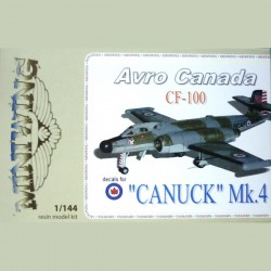 Avro Canada CF100 Canuck Mk4 RCAF  1/144 Scale Resin Kit