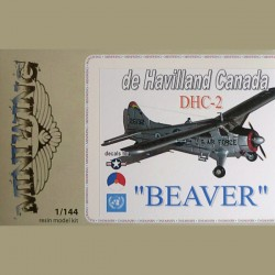 De Havilland DHC2 Beaver KLU, USAF, UN 1/144 Scale Resin Kit