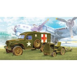 Wwii Us Ambulance & Towing Tractor 1/72 Scale Kit