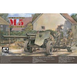 M5 105Mm Howitzer On M6 Carriage Afv Club Kit 1/35