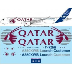 Airbus A350XWB Qatar Launch Customer  Decals Set 1/144