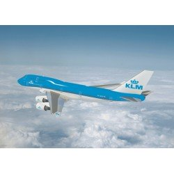 KLM Boeing 747-400 in flight Poster-  60 x 84 cm
