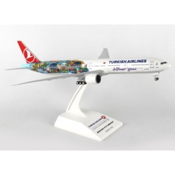 "B777-300ER Turkish Airlines ""Istanbul-San Francisco"" TC-JJU Desktop Display 1/200"