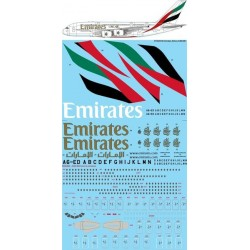 Airbus A380 Emirates  Decall sheet in 1/144