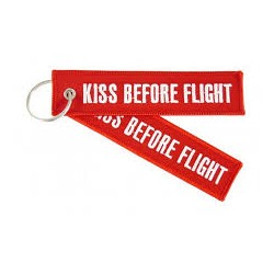Keyholder with 'Kiss Before Flight' on both sides