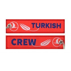 Keyholder with Turkish on one side and Turkish crew on other side