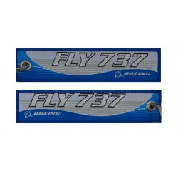 Keyholder with FLY 737 on both sides