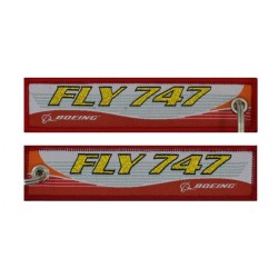 Keyholder with FLY 747 on both sides