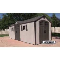 Lifetime USA HDPE Garden Shed 20x8