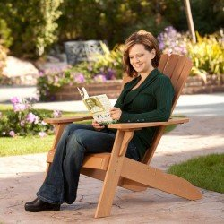 Lifetime Products Faux Wood Adirondack Chair