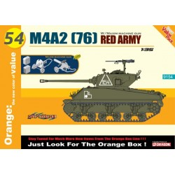 1/35 M4A2(76)RED ARMY + MACHINE GUN