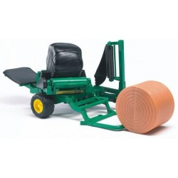 Bruder Bale Wrapper With Okery And Black Round Bales