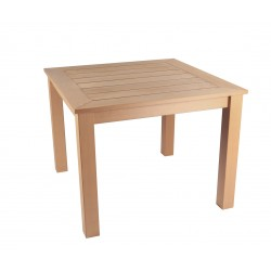Winawood Square 4 Seater Dining Table Teak Colour - Maintenance Free