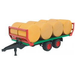 Bruder Bale Transport Trailer With 8 Round Bales 2220