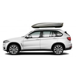 580Ltr Menabo Mania Roof Box 580 Litres Dual Opening Duo Gloss Silver. Free Delivery.