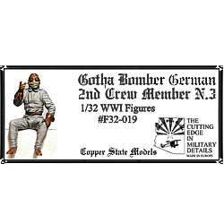 WW1 German Gotha Bomber 2nd Crew Member 3 (Copper State Models F32-019)