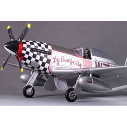 FMS P51 MUSTANG ARTF W/RETRACT W/O TX/RX/BAT - BIG DOLL (V8)