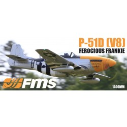 FMS P51 MUSTANG ARTF WITH RETRACTS - FRANKIE (V8)