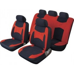 Full Set Seat Covers Black and Red
