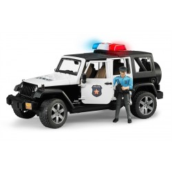 Bruder Jeep Wrangler Unlimited Rubicon Police Vehicle With Policeman And Accessories
