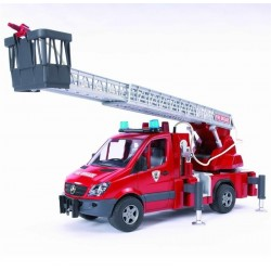 Bruder Mercedes Benz Sprinter Fire Engine With Slewing Ladder, Water Pump And Light And Sound
