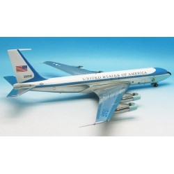 B707-300 VC-137 USAF, Air Force One, 26000 Polished, with black stand 1/200 Scale