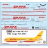 Boeing 767-200F DHL cargo (DECALS) 1/144 Scale