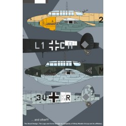 Messerschmitt BF110D 1/72 Scale Decal