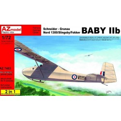 Nord 1300 / Slingsby / Fokker Baby IIb, 2 kits included 1/72 Scale Kit
