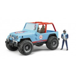 Bruder Jeep Cross Country Racer Blue With Driver Highlights