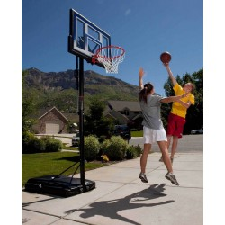 54 IN. PORTABLE BASKETBALL HOOP WITH Slam-It Pro Rim- Power lift