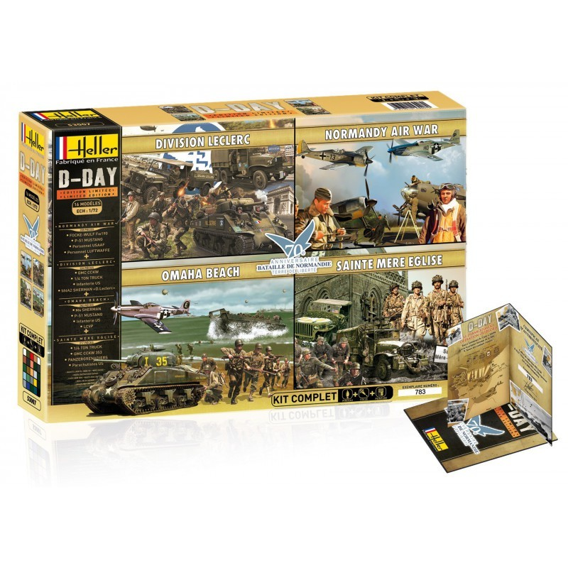 Limited Edition 70Th Anniversary Of The D-Day 1 72 Scale Kit Heller 53007 HEL530
