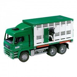 Bruder Man Tga Cattle Transportation Truck Including 1 Cow