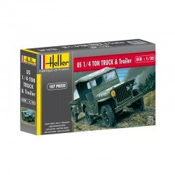 US 1/4 TON TRUCK & TRAILER 1/35 Scale Kit