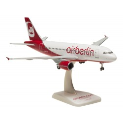 A319 (Air Berlin) D-ASTX with stand and landing gears 1/200 Scale Model