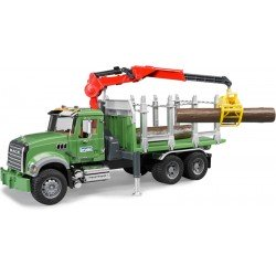 No Longer Available Bruder Mack Granite Timber Truck With Crane 2824