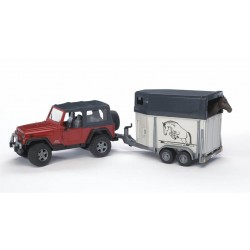 Bruder Jeep Wrangler With Horse Box