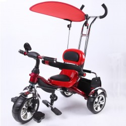 Kyootsi Baby Tricycle Three Wheel 4 in 1 Kids Smart Trike - Red