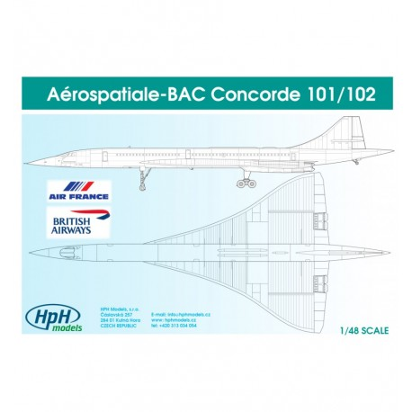 Concorde 101/102 IN SCALE 1/48 Resin Kit  HPH