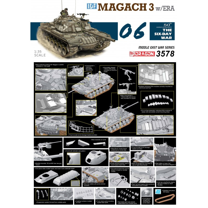 1 35 IDF Magach 3 w ERA D3578 New