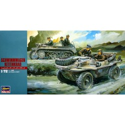 SCHWIMMWAGEN WITH KETTENKRAD 1/72 Scale Kit