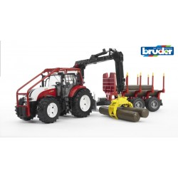 Steyr Cvt 6230 Forestry Tractor With Log Trailer